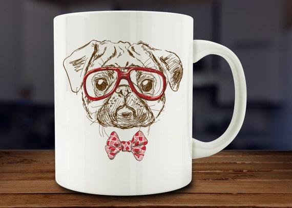 Pug Mug, Dog Lover Mug (A124)