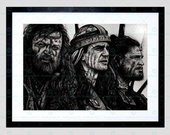 Braveheart Mel Gibson Scotland Framed Art Print By W.Maguire F12X10592