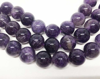 "1 Strand 12mm Amethyst Beads, wholesale beads, natural beads, semi precious stones, 15 1/2"" length,round beads, Wholesale Gems."