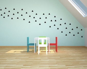 50 triangles - Decorative wall decal