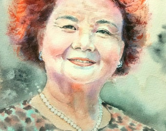 Custom Watercolor Portrait Based On Your Photo