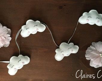 Soft white cloud garland