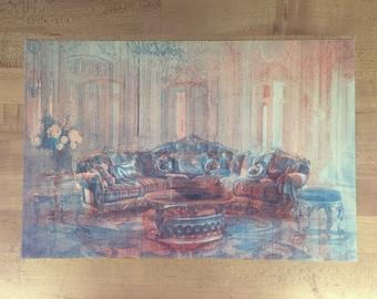 2 Livingrooms #2  - original risograph -
