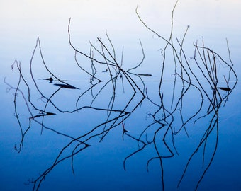 """Modern Art Abstract Photography """"BlueWater""""  Photographic Print"""