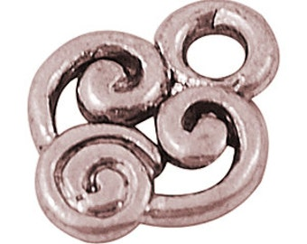 10mm Heart Swirl Charm x50