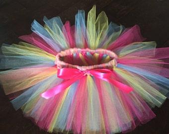 Multicolored tutu, party tutu, birthday tutu, fun tutu, cupcake tutu