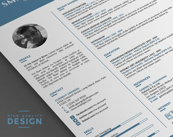 cv template resume template professional 2 page word resume template with cover letter - Template Of A Resume