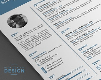 cv template resume template professional 2 page word resume template with cover letter