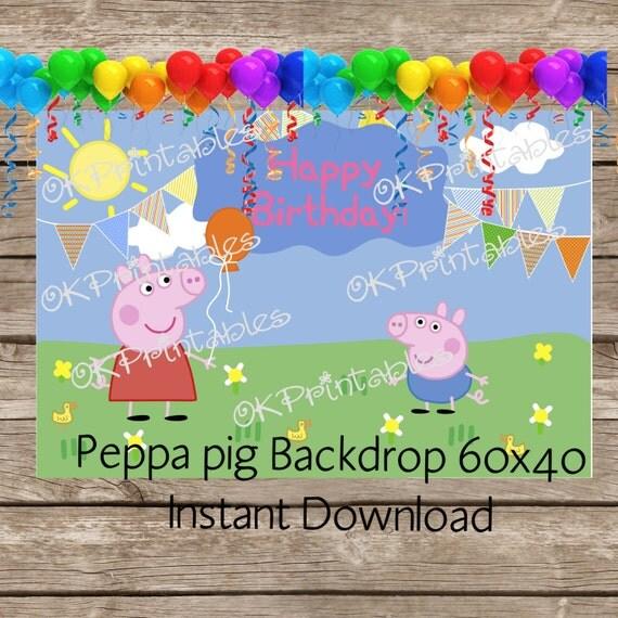 Peppa Pig Banner Peppa Pig Birthday Banner By: Peppa Pig Birthday / Peppa Pig Backdrop / By OKPRINTABLESSHOP