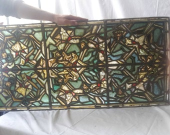 Old France glass panel