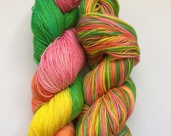 Turkish Delight Hand Dyed Sock Yarn 100g