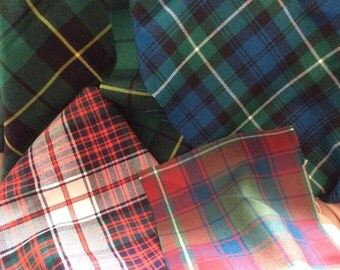 Tartan for Hand Tying for a wedding