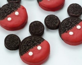 Mickey and minnie Chocolate dipped oreo cookies