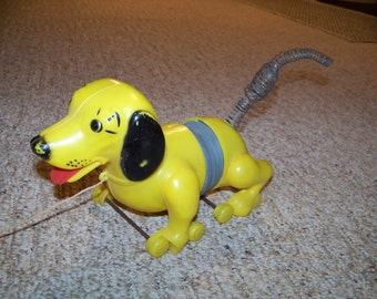 Vintage Collectible 1960's Slinky Dog pull toy