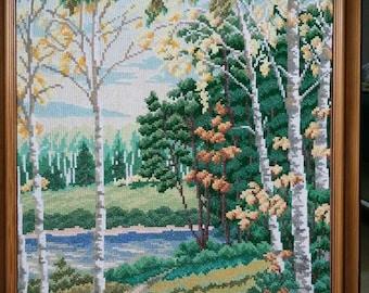 Hand stitched art picture (вышитая картина)