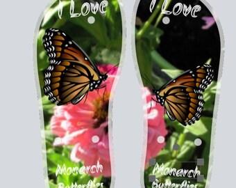 Custom Monarch Butterfly Flip Flops