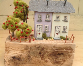 Fallers...pair of driftwood cottages
