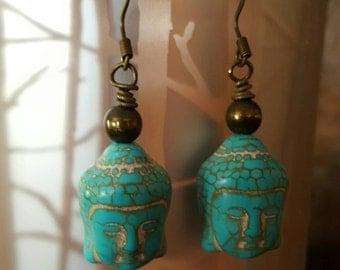 Buddha howlite turquoise
