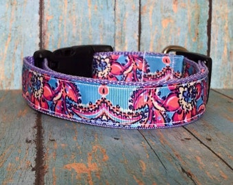 Lilly Pulitzer Inspired Dog Collar