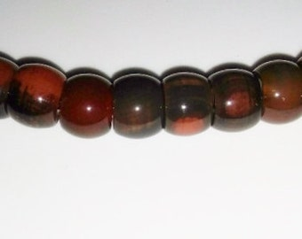 SALE! Brown agate beads 15mm agate beads red agate  extra large hole large holed bead semiprecious stone semiprecious beads agate beads