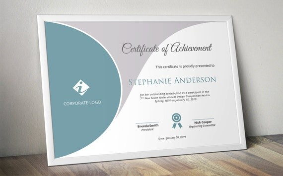 Curve Corporate Business Certificate Template For MS Word