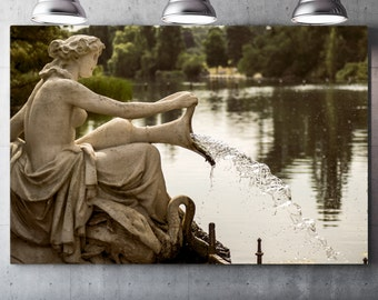 Italian fountain - Draw on canvas varnish Premium canvas - Photo and creating Global Graphic Arts