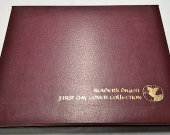 Reader's digest first day cover collection Vol. 1/first day cover stamps/62 stamps!/certificate of authenticity