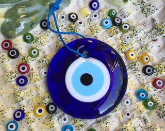 Turkish evil eye beads - 7cm evil eye - nazar beads - nazar boncuk - evil eye wall hanging - greek evil eye beads - evil eye home decor