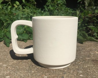 Ceramic Bisque - Small Coffee Mug - Ready to Paint - DIY