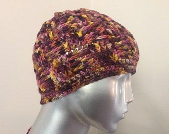 Crochet Currant Basket Weave Hat