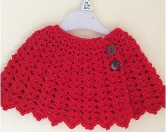 Handmade beautiful crochet baby girl's cape
