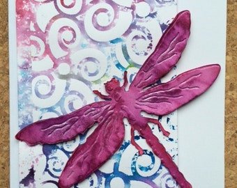 Dragonfly Swirls Card