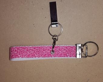 pink on white keyfob