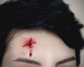 Prosthetic Silicone Gunshot Wound