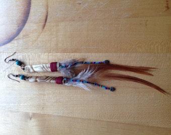 Totem Man Feather Earrings