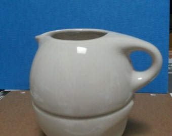Creamer & Sugar Bowl Set by Russel Wright. Iroquois Casual White