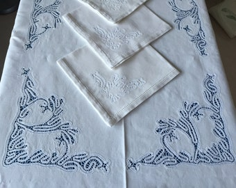 Tablecloth pillow with coordinated napkins