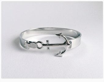 Bracelet SILVER, Anchor gift, Maritime, Bracelet
