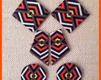 Handmade Fabric Earrings - Stud Minis (see images for different fabrics)