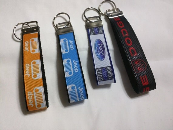 jeep ford dodge key fob key chain free shipping within us. Black Bedroom Furniture Sets. Home Design Ideas