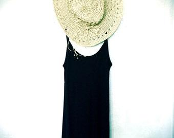 SALE!! Boho Chic Black Dress, Womens Black Sundress, Black Beach dress, Summer Sundress