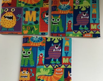 Little Monsters Composition Notebooks-set of 3
