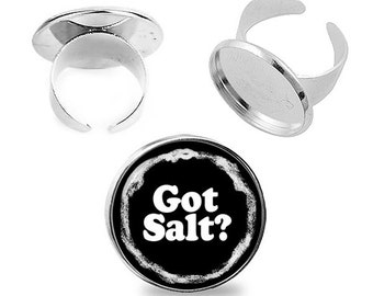 Supernatural Ring Got Salt Adjustable ring Supernatural Fandom Jewelry Fanboy Fangirl