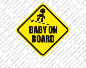Baby on surfboard