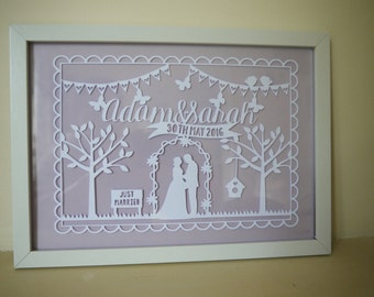 Paper Cut Out Wedding Frame