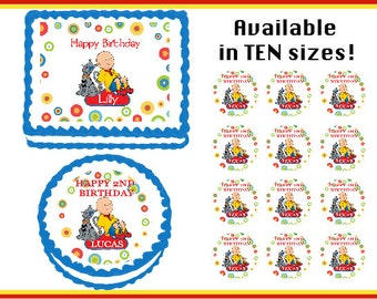 Caillou Edible Birthday Cake Cupcake Cookie Topper Party Decoration Icing Sheets
