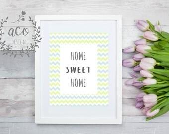 HOME SWEET HOME Printable Wall Art, Printable Wall Decor, Printable, Home Decor
