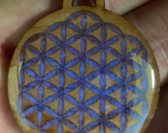 Laser made glow flower of life pendant