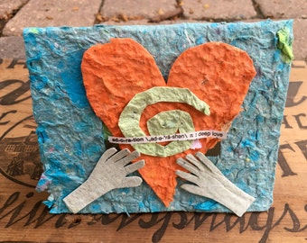 Adoration Card//Blank Card//Recycled Paper//Reusable Card//Love//Adoration//Recycled