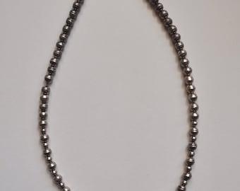 """Vintage Native American Silver """"Navajo Pearls"""" Necklace"""